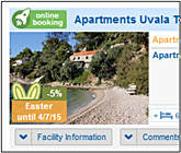Accommodation booking in Hvar island